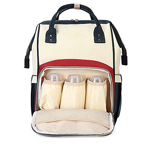 Mochila de pañales para Bebé COOK JOY Bolso Pañal Mochila Multifuncional de Gran Capacidad, Mochilas de Pañales y...