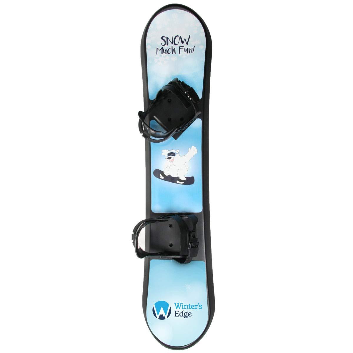 d4dbbe79e501d Amazon.com: Winter's Edge Snow Much Fun Kids Plastic Snowboard: Toys & Games