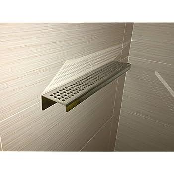 Royal Stainless Steel Shelf Rectangular By Serene Steam (Traditional  Square) Wall Mount Shower Shelf