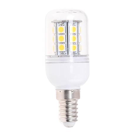 SODIAL(R) Bombilla Lampara Foco Luz Blanco Calido E14 5W 27 LED 5050 SMD