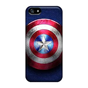 Excellent Cell-phone Hard Cover For Apple Iphone 5/5s (sRs46211oDob) Customized Colorful Captain America Series