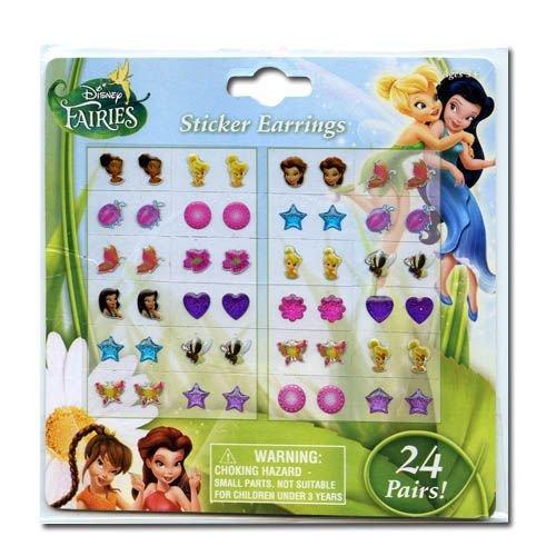 Disney Fairies Earring Set -24 Pair Tinkerbell Sticker on Earrings
