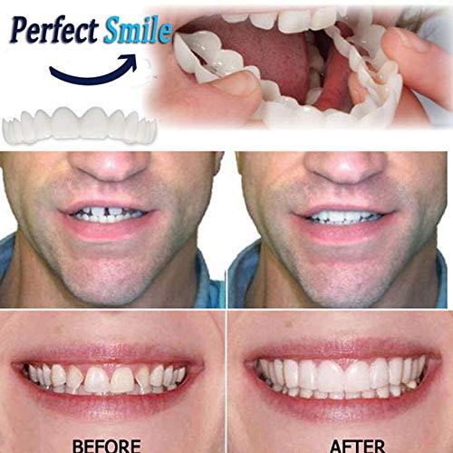 RoadRomo Comodo Snap On Uomo Donna Dente Instant Smile Comfort Fit Denti Flex Adatto per Un Sorriso sbiancante Copertura con Denti Finti