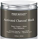 Facial Mask Acne Scars The BEST Charcoal Creme Mask 8.8 fl. oz.- Best for Facial Treatment, Minimizes Pores & Reduces Wrinkles, Acne Scars, Blackheads & Cellulite - Great as Face Mask & Body Cleanser