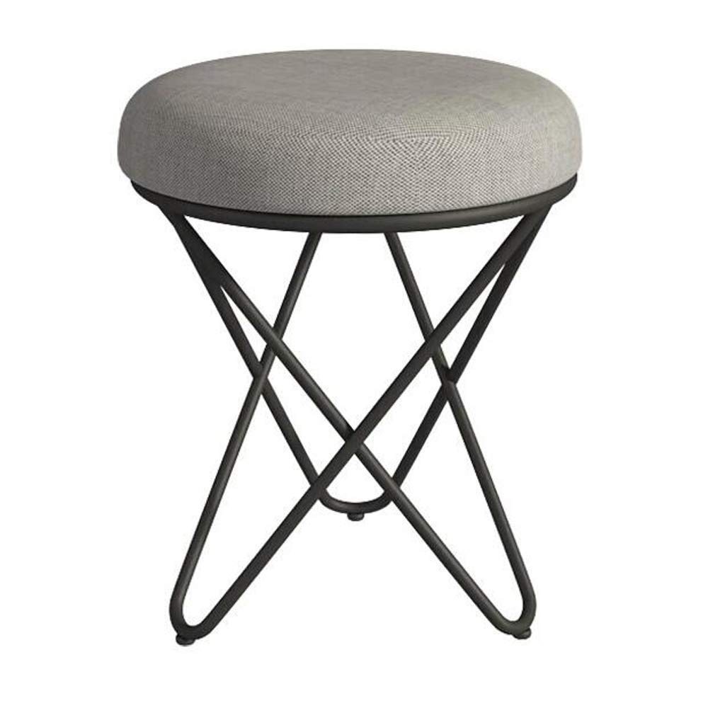 A RMXMY European Fashion Home Small Stool Makeup Stool Dressing Stool Bedroom Nordic Creative Modern Simple Manicure Chair Living Room Bedroom Stool Chair (color   C)