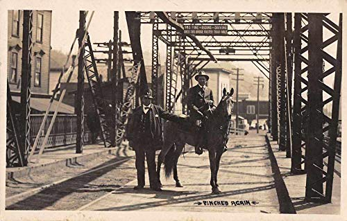 Pinched Again Police Arresting Man on Horse Real Photo Postcard JD228111