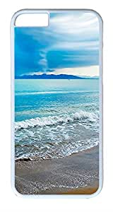 ACESR Turquoise Beach iPhone 6 Hard Shell Case Polycarbonate Plastics Hipster Case for Apple iPhone 6(4.7 inch) White