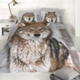 Generic Duvet Cover King Size Wolf Design