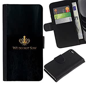 All Phone Most Case / Oferta Especial Cáscara Funda de cuero Monedero Cubierta de proteccion Caso / Wallet Case for Apple Iphone 4 / 4S // We Do Not Sow
