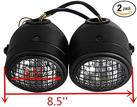 Moto Front Dual Headlight Lamp Head Light For Streetfighter Cafe Racer Dirt Bike