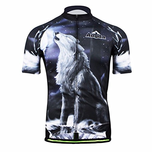 Uriah Men's 3D Cycling Jersey Short Sleeve Wolf Land Size - Cycling 4 Size Jersey