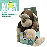 Animal Plant Baby Backpack with Safety Harness, Monkey