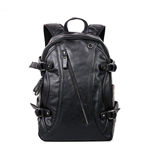 Meoaeo Herren Schwarz Leder Tasche Tasche