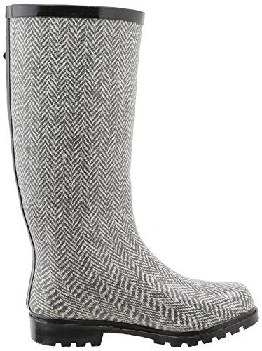 Grey Nomad Boot Herringbone Puddles Women's White Rain FqIHFrw