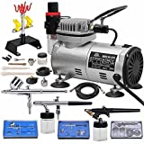 Best Master Airbrush Airbrush Makeup Kits - Multi-purpose Professional Airbrush Kit with 3 Dual-action Spray Review