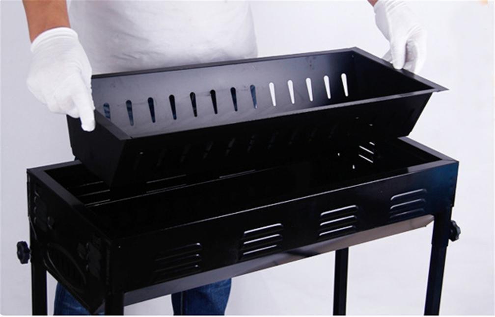 XW Grill Pfanne drinnen und draußen Tragbarer Grill/Sicherheit und Gesundheitsschutz mit Netz Roasted, 66*32*70