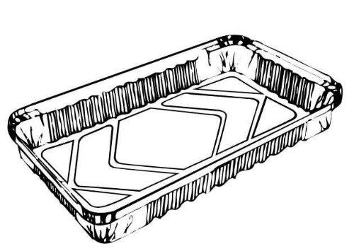 PAN, ENTREE FOIL 4 LB 11.5X7.5X1.5 RECTANGLE OBLONG CASSEROLE ALUMINUM