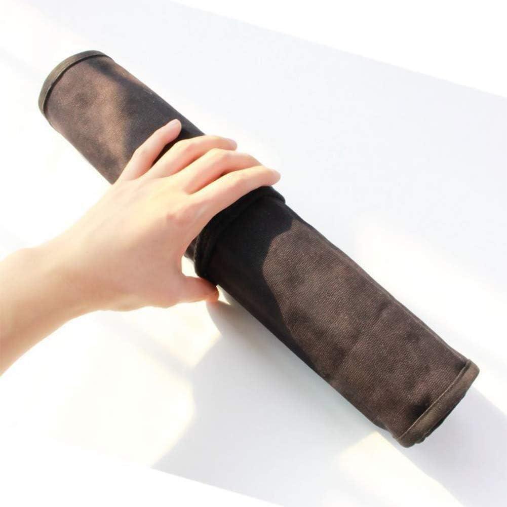 Trousse Titulaire de la toile artiste peintre porte-pinceau Roll Up sac de pinceau cas de stockage de peinture pinceau pochette de toile for acrylique crayon /à dessiner huile pinceau Color : Gray