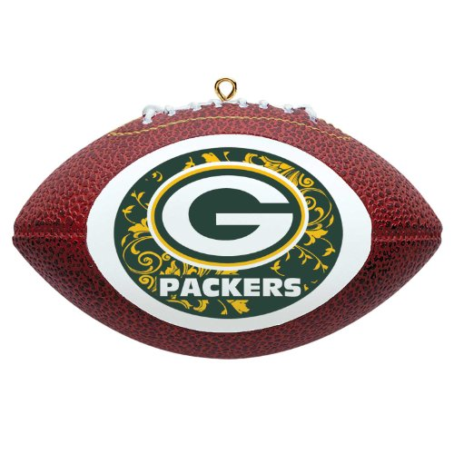 NFL Green Bay Packers Mini Replica Football Ornament