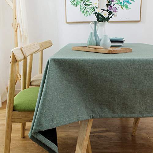 A 135x180cm(53x71inch) JFFFFWI Pur Coton Moderne Simple Lin cirée,Frais,Tissu Treillis Table rectangulaire Plateau voitureré de Table en Tissu à Un 135x180cm(53x71cm)