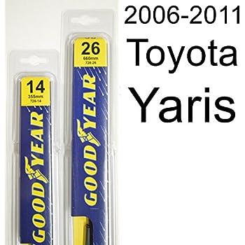 Amazon.com: 2007-2011 Toyota Yaris Replacement Wiper Blade Set/Kit ...
