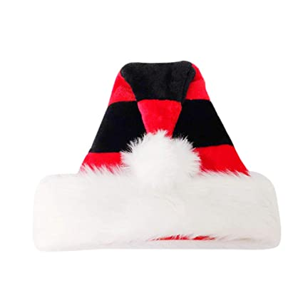 7566ce05fcaed Red Crushed Velvet w Black Fur Santa Hat Sonstige