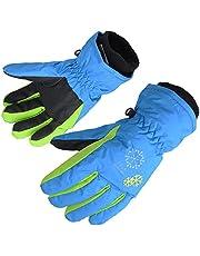 AMYIPO Kids Winter Snow Ski Gloves Children Snowboard Gloves for Boys Girls (Blue, 4-5 Years)