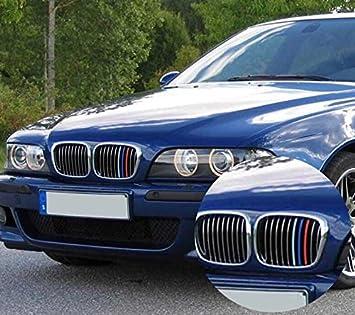 BizTech ® Parrillas de coche Inserciones Rayas decoración para BMW 5 Serie 1995-2003 M Power M Sport Tech: Amazon.es: Coche y moto