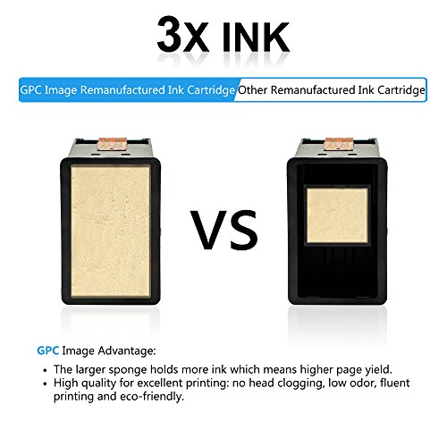 GPC Image 2 Black Remanufactured Ink Cartridge (InkLevel Chip) Replacement for Canon PG-210XL 210XL 210 XL High Yield (2 Black) for Canon PIXMA iP2702 MP495 MP240 MX410 MP280 MP480 MX360 MX420 Printer Photo #7