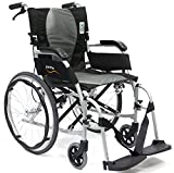 "Karman Ergo S-2512F18SS Flight Ultra Lightweight Ergonomic Wheelchair , 18"" Seat Width, Fixed Wheel"