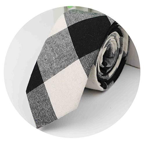 Fashion Tie Classic Men's Plaid Necktie Casual Tartan Suit Bowknots Ties Male Cotton Skinny Slim Ties,A5