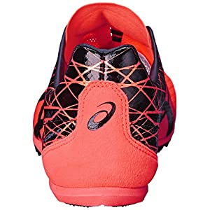 ASICS Men's Cosmoracer MD Track Shoe, Flash Coral/Black, 8 M US