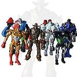 zeus real steel - 8pcs Movie Real Steel Zeus Atom Midas PVC Action Figures Toys Collection 13CM