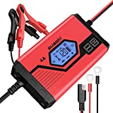 SUAOKI Car Battery Charger 4 Amp 6/12V Fully Automatic Battery Maintainer Car Truck Motorcycle