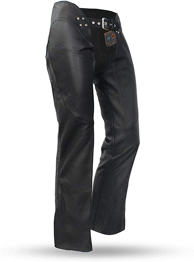 Milwaukee ML1179-BLK-5X Womens Leather Chaps Black, 5X-Large