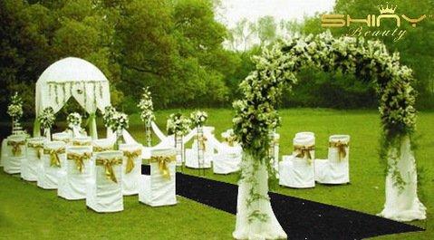 ShinyBeauty Black-Aisle Runner-50FTX4FT,Sparkle Sequin Fabric Wedding Carpet, Glitter Ceremony Event Aisle Runner (Black) by ShinyBeauty