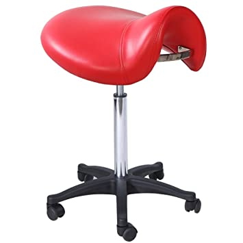 Salon Spa Massage Office Doctor Dental Tattoo Hydraulic Saddle Stool ST-01RD