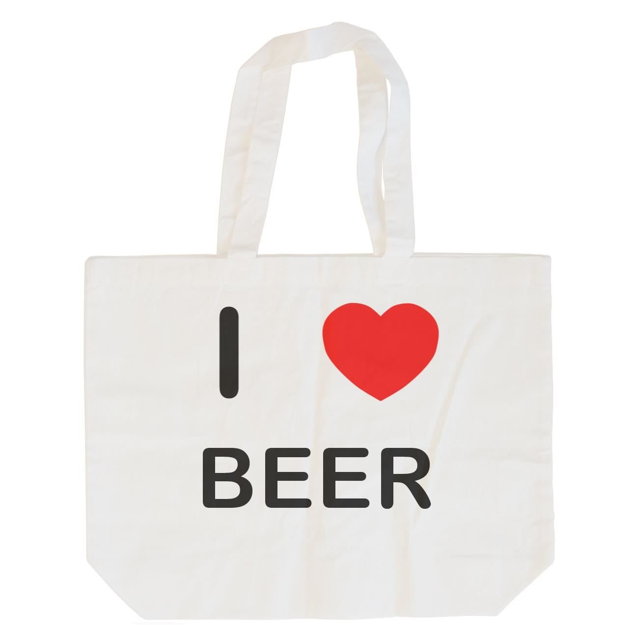 I Love Beer Cotton Long Handle Sling Bag