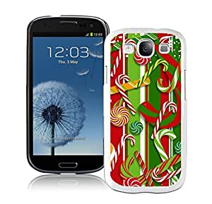 S3 Case,Christmas Red Green Decoration White Silicone Samsung Galaxy S3 Case,S3 I9300 Cover Case by Maris's Diary