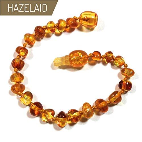 Hazelaid (TM) 5.5'' Pop-Clasp Baltic Amber Honey Bracelet by Hazelaid