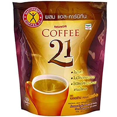Naturegift Coffee 21 With Vitamins L-Carnitine Weight Loss Formula 10 Sachets
