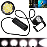 Diving Flashlight,Chartsea Underwater 150m 10000lm 6x L2 LED SCUBA Diving Flashlight Torch Light+Bracket (A)