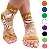 BLITZU Plantar Fasciitis Socks with Arch Support, Foot Care Compression Sleeve, Eases Swelling & Heel Spurs, Ankle Brace Support, Relieve Pain Fast Nude S-M