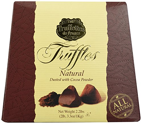 Chocmod Truffettes de France 2.2lbs (1Kg) All Natural Truffles in a Elegant Gift Box