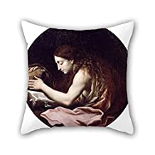 Oil Painting Cignani, Carlo - The Penitent Magdalen Cushion Cases 20 X 20 Inches / 50 By 50 Cm Best Choice For Family Teens Car Seat Father Wedding Car Seat With Twin Sides