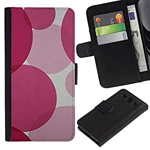 WINCASE (No Para S3 Mini) Cuadro Funda Voltear Cuero Ranura Tarjetas TPU Carcasas Protectora Cover Case Para Samsung Galaxy S3 III I9300 - fucsia ronda púrpura bastante rosado