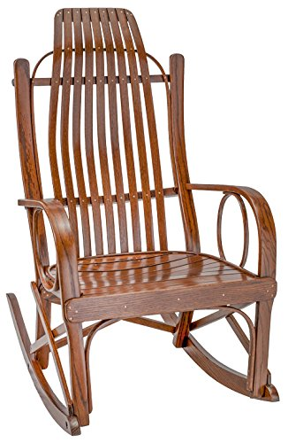 Furniture Barn USA Bent Arm Rocker - Oak in Michael's Cherry Stain ()