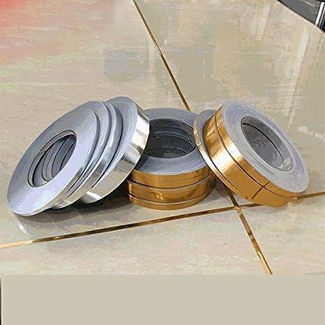 Adhesivo de l/ínea de grieta en el Piso MLZYKYJZ L/ámina Impermeable de PVC Cinta Adhesiva Cinta autoadhesiva Decoraci/ón de Azulejos de Esquina de Suelo para ba/ño 0.5cmX50m, Oro