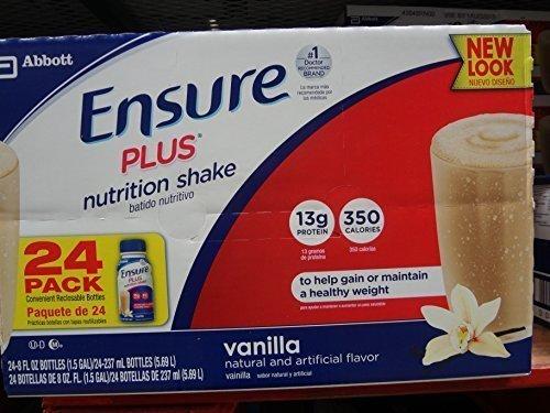 Ensure Plus 24-8 Fl Oz Nutrition Shake, Vanilla, 192 Fl Oz by Ensure Plus