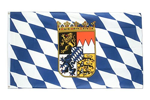ALBATROS 3 ft x 5 ft German Germany Crest Bavaria Bavarian Lions Super-Poly Flag Banner for Home and Parades, Official Party, All Weather Indoors Outdoors